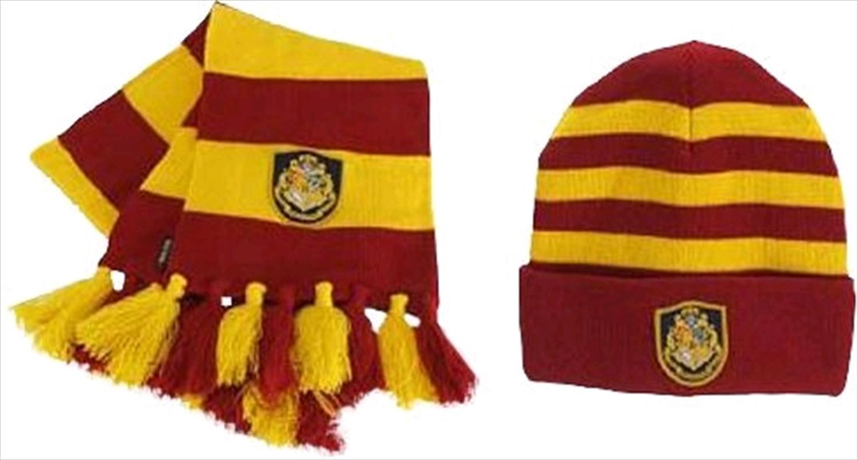 Harry Potter - Hogwarts Knit Hat & Scarf Set   Apparel