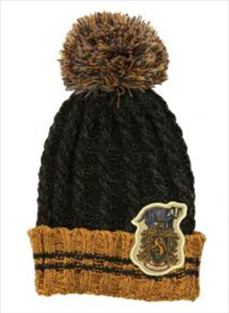 Hufflepuff Heathered Pom Beanie | Apparel