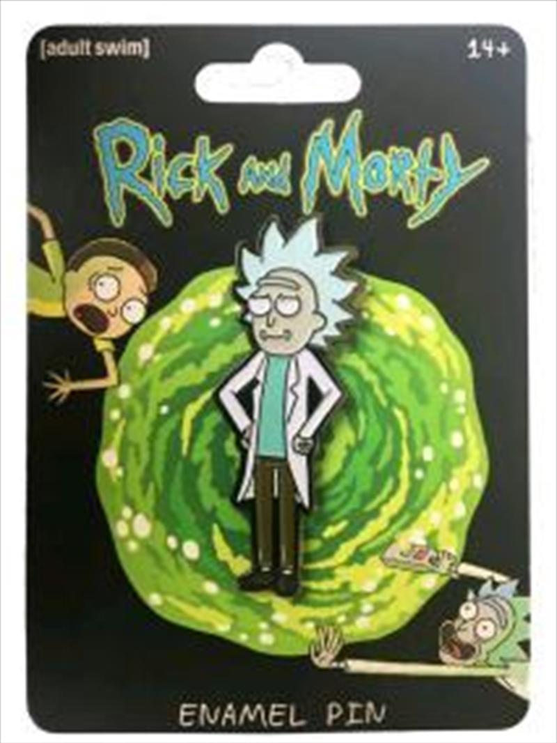 Tiny Rick Enamel Pin   Merchandise