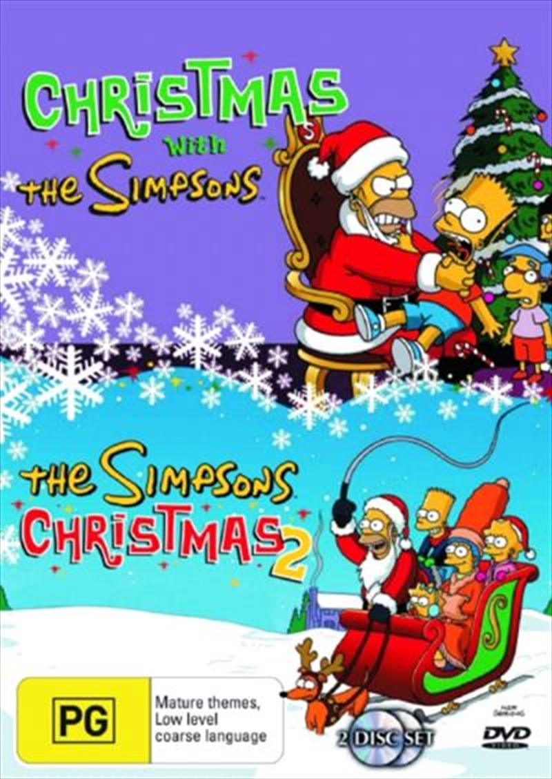 The Simpsons Christmas Dvd.Simpsons The Christmas 1 And 2 Double Pack