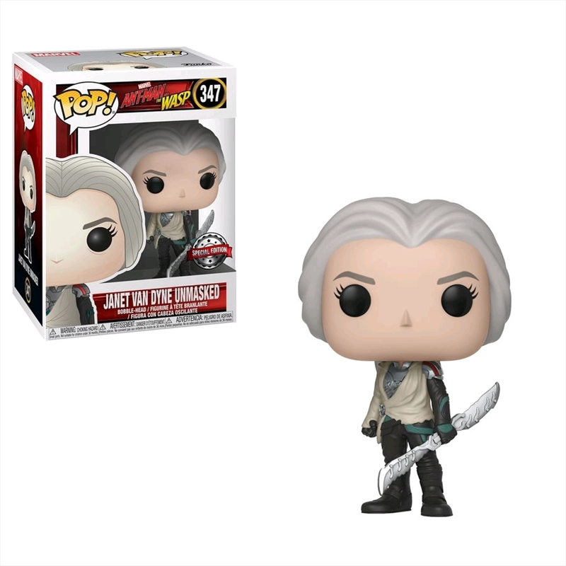 Ant-Man and the Wasp - Janet Van Dyne Unmasked US Exclusive Pop! Vinyl | Pop Vinyl