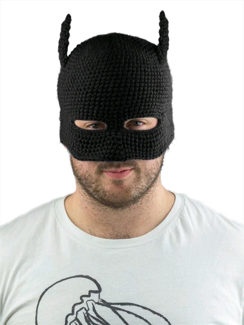Batman - Batman Cowl Knit Beanie (Black) | Apparel