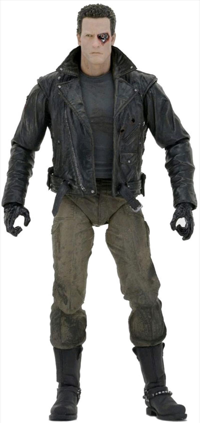 "Terminator - 7"" Police Station Assault T-800 (Motorcycle Jacket) Action Figure 