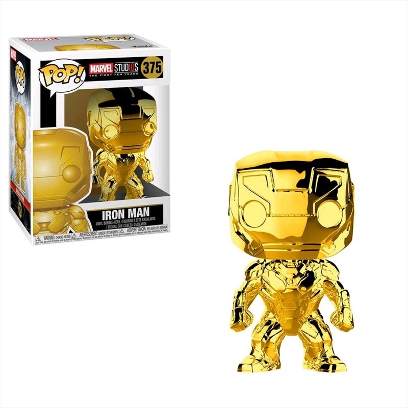 Marvel Studios 10th Anniversary - Iron Man Gold Chrome Pop! Vinyl   Pop Vinyl