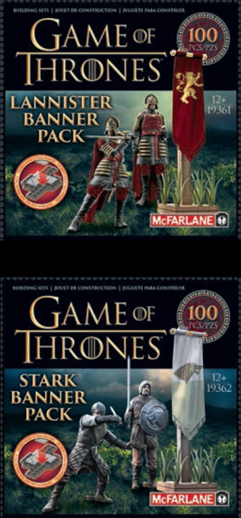 Game of Thrones - Construction Set Banner Pack Assortment (Sent At Random).   Merchandise