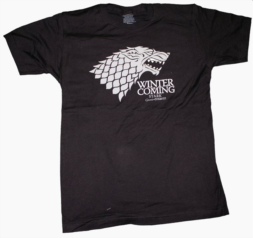 Game of Thrones - Stark Winter Male T-Shirt S | Apparel