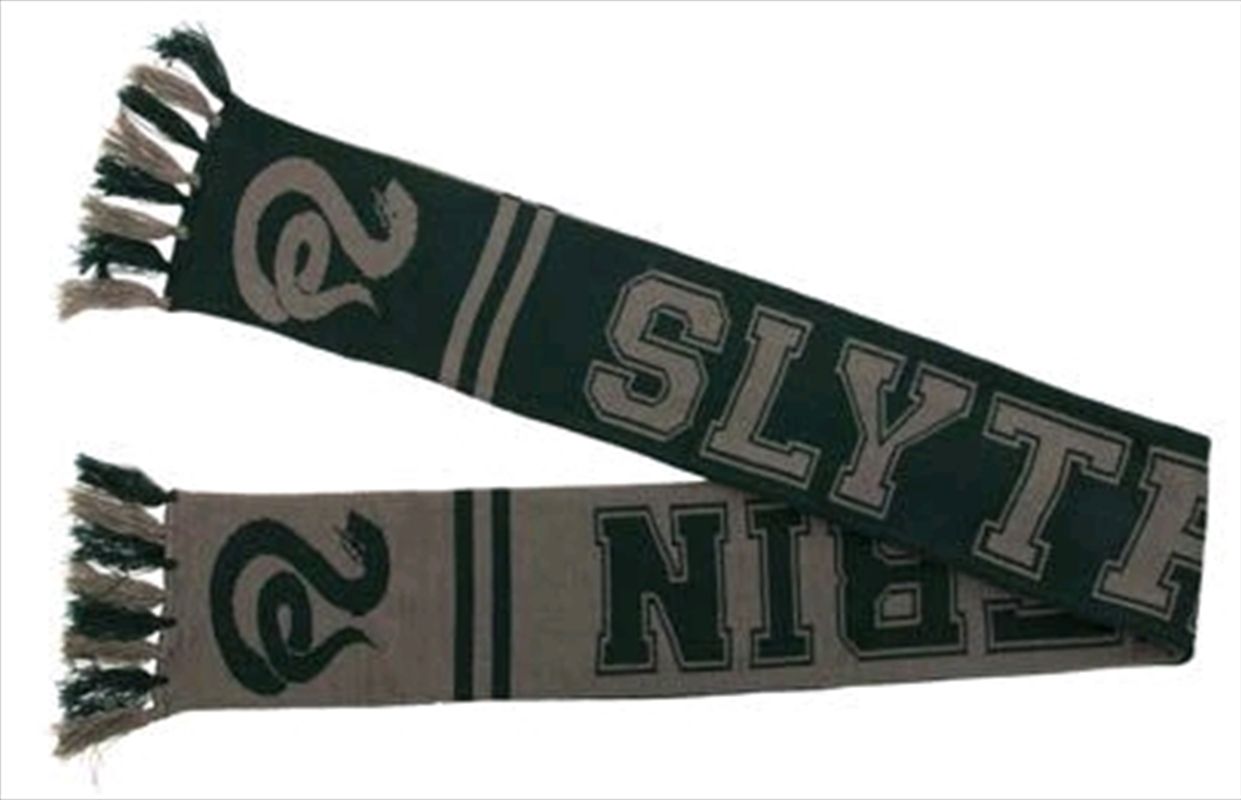 Harry Potter - Slytherin Reversible Knit Scarf | Apparel
