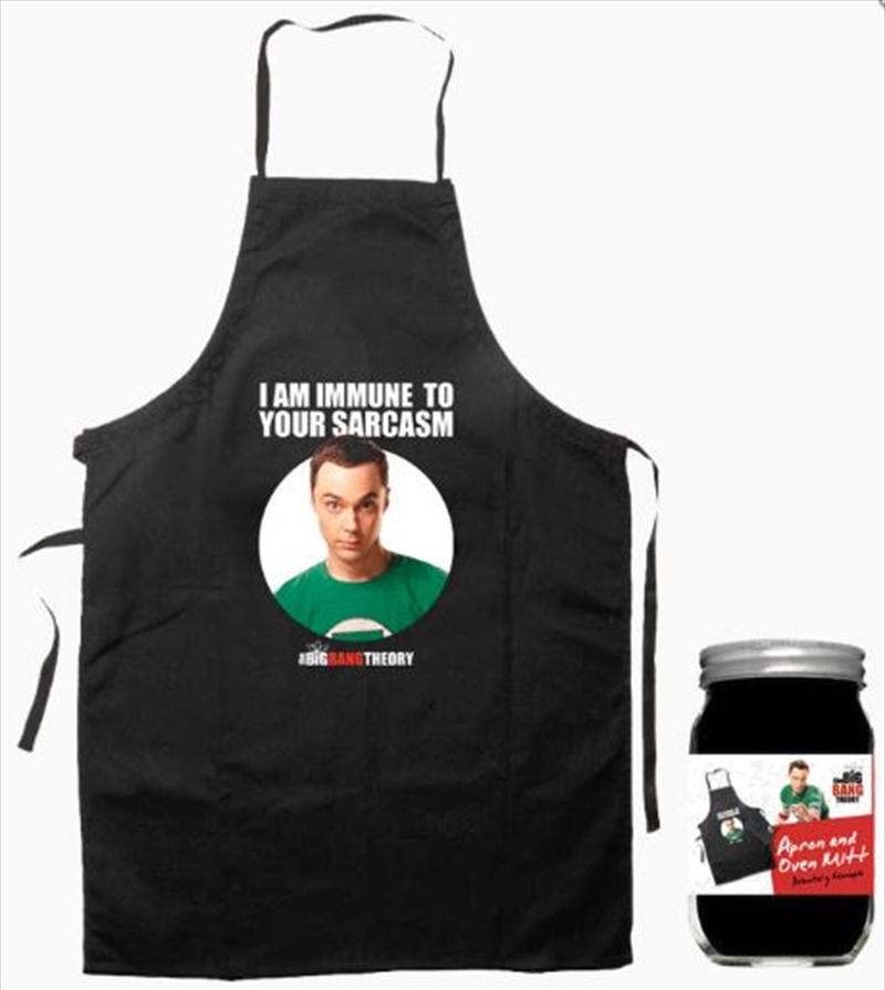 The Big Bang Theory - Sheldon Apron & Oven Mit Set | Merchandise
