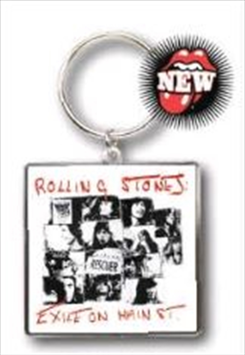 The Rolling Stones - KeyRing Exile On Main Street   Accessories
