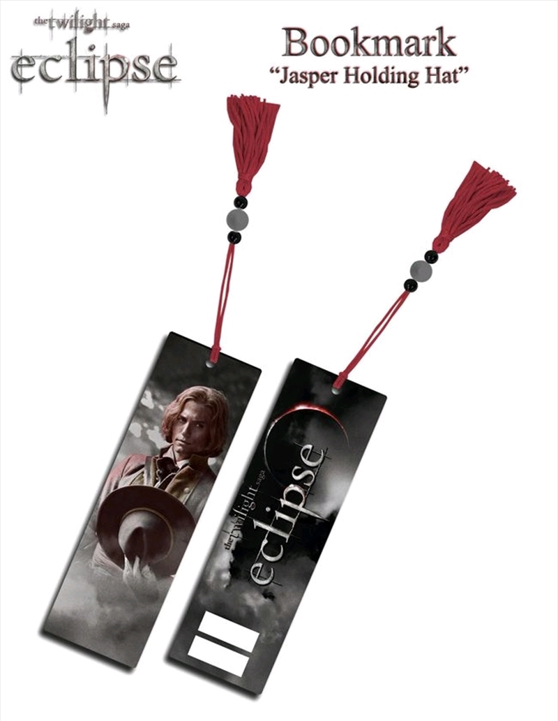 The Twilight Saga: Eclipse - Bookmark Jasper Holding Hat | Apparel