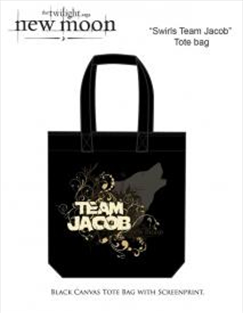 The Twilight Saga: New Moon - Bag Tote Team Jacob Swirls | Lunchbox
