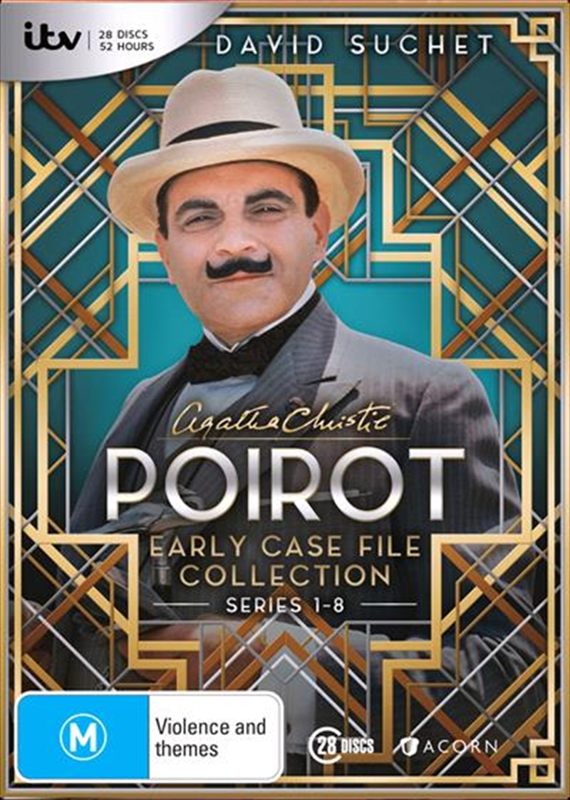 Agatha Christie - Poirot - Series 1-8 | Early Case File Collection | DVD