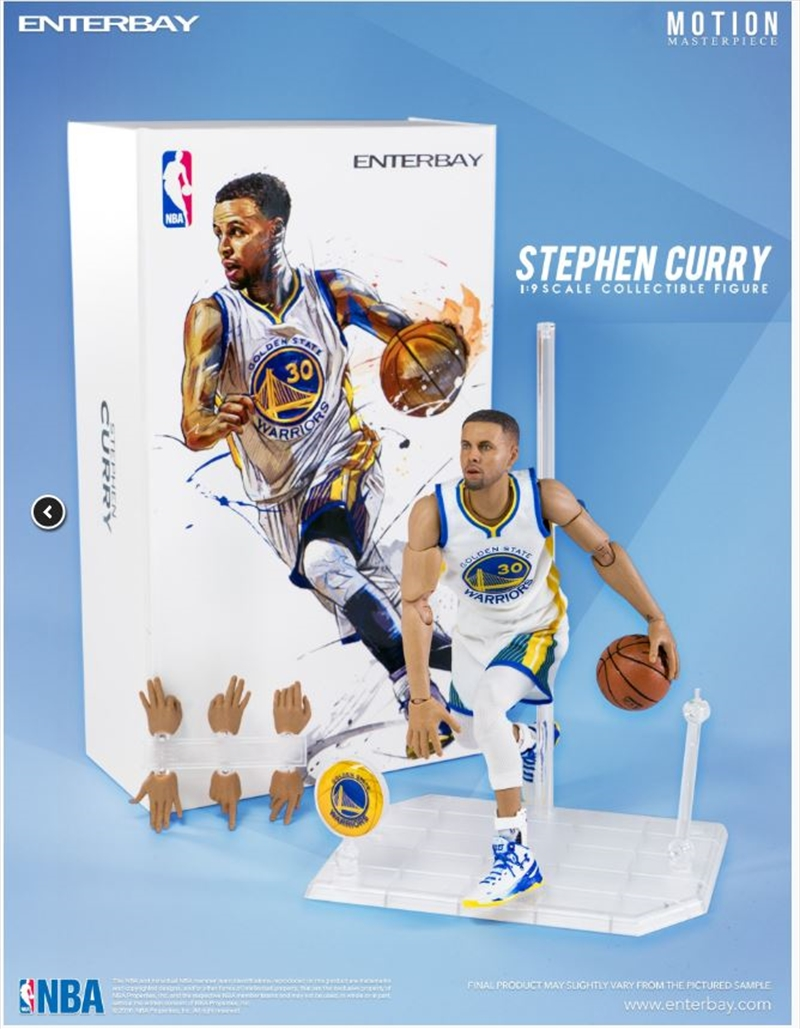 NBA - Stephen Curry 1:9 Scale Action Figure | Merchandise