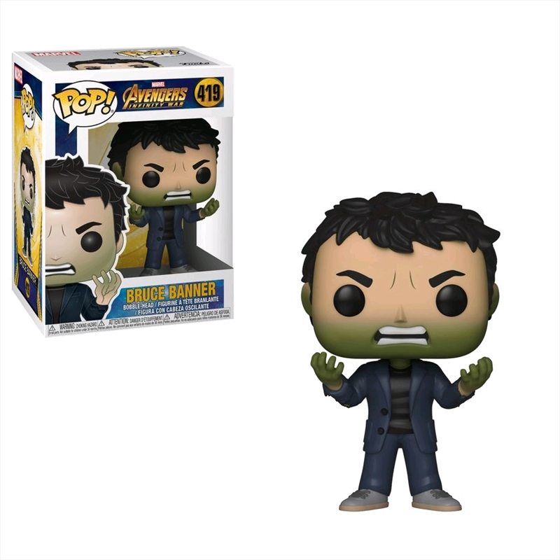 Avengers 3: Infinity War - Bruce Banner with Hulk Head Pop! Vinyl | Pop Vinyl