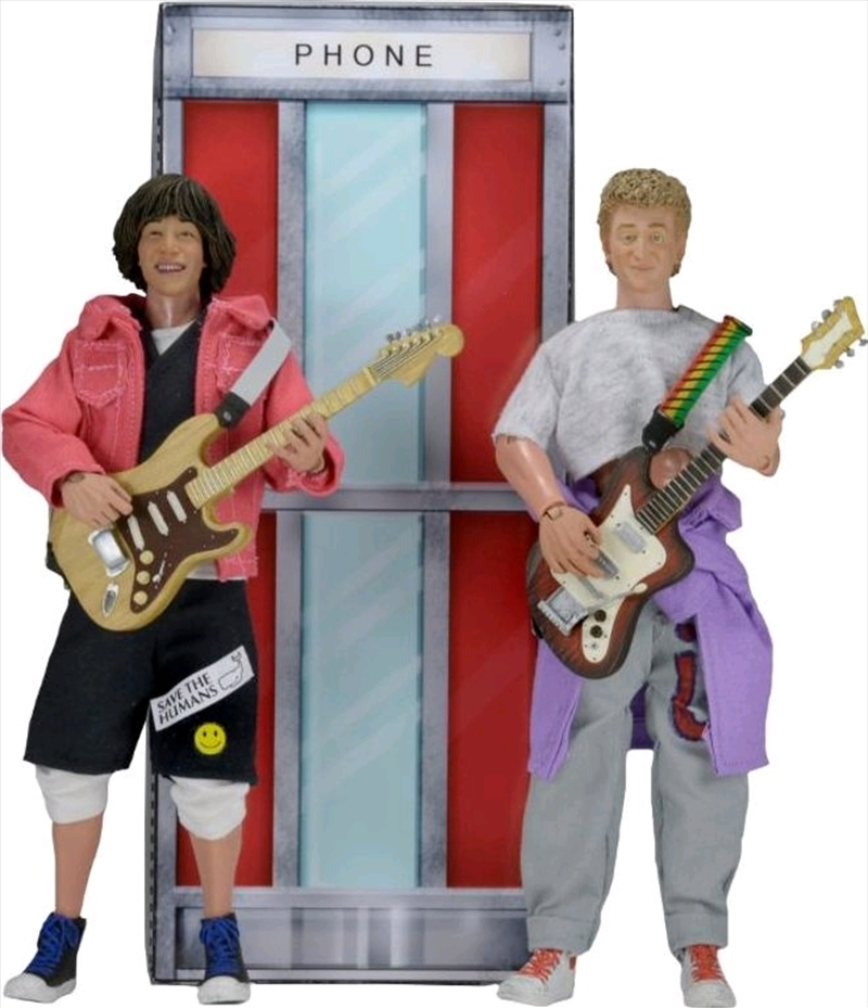 "Bill & Ted's Excellent Adventure - Bill & Ted 8"" Action Figure 2-Pack 