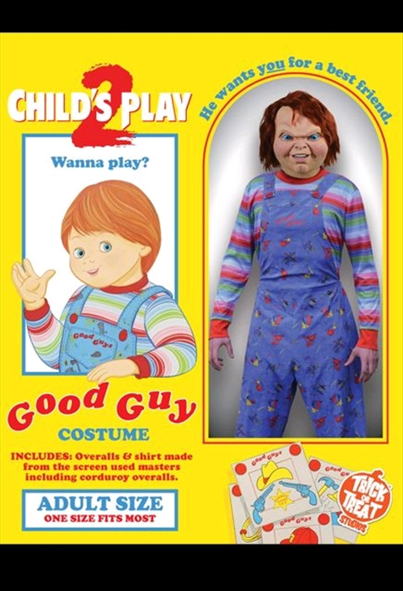 Child's Play 2 - Deluxe Good Guy Costume Adult   Apparel