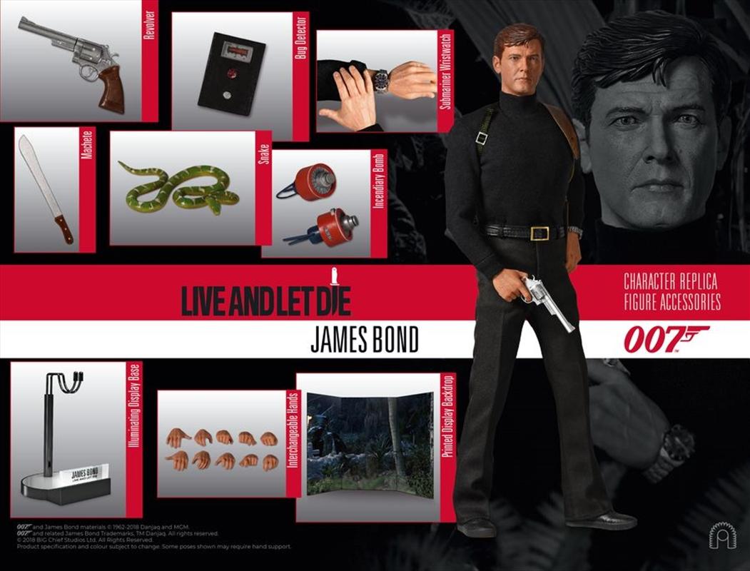 """James Bond: Live and Let Die - James Bond (Moore) 12"""" 1:6 Scale Action Figure   Merchandise"""