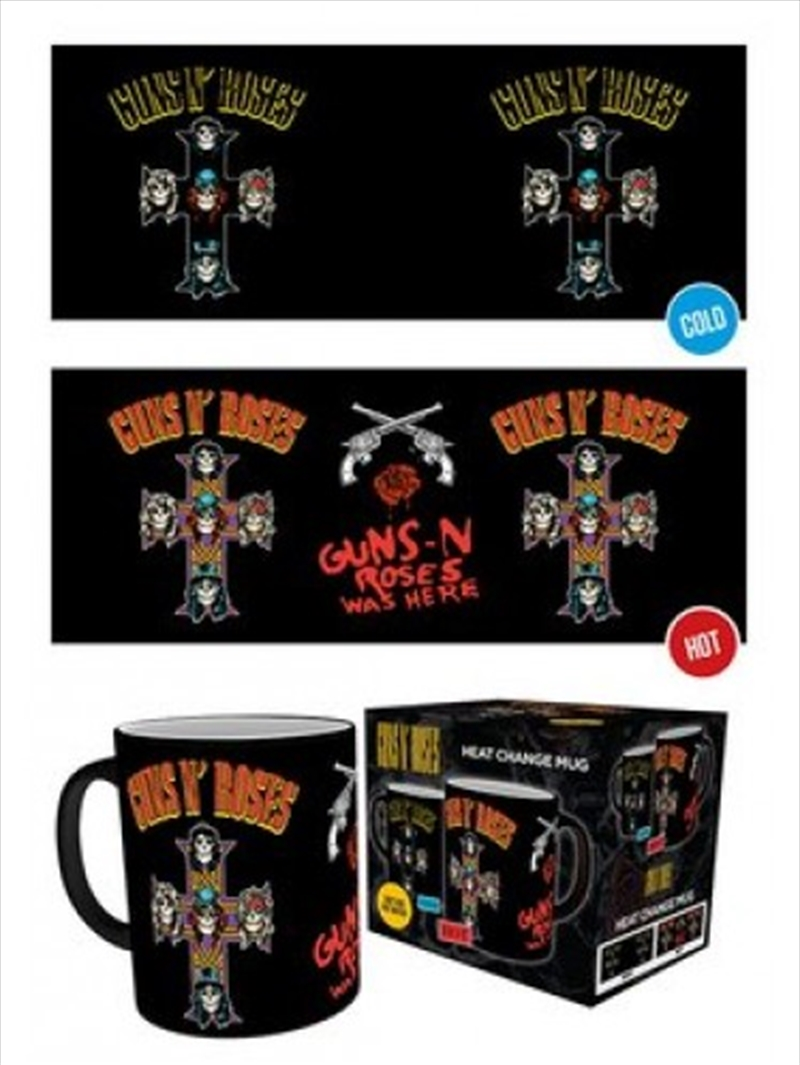 Guns n Roses Cross Heat Changing Mug | Merchandise