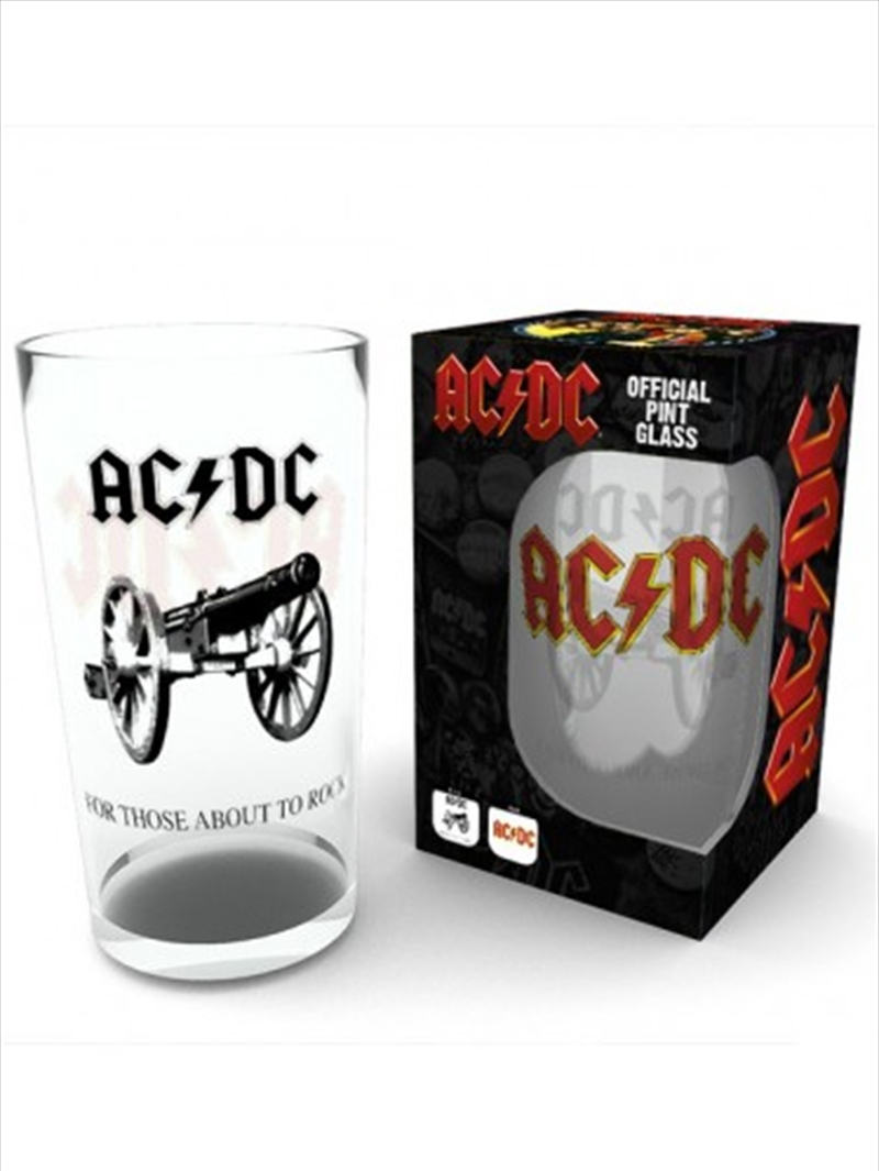 ACDC Rock Large Glass | Miscellaneous