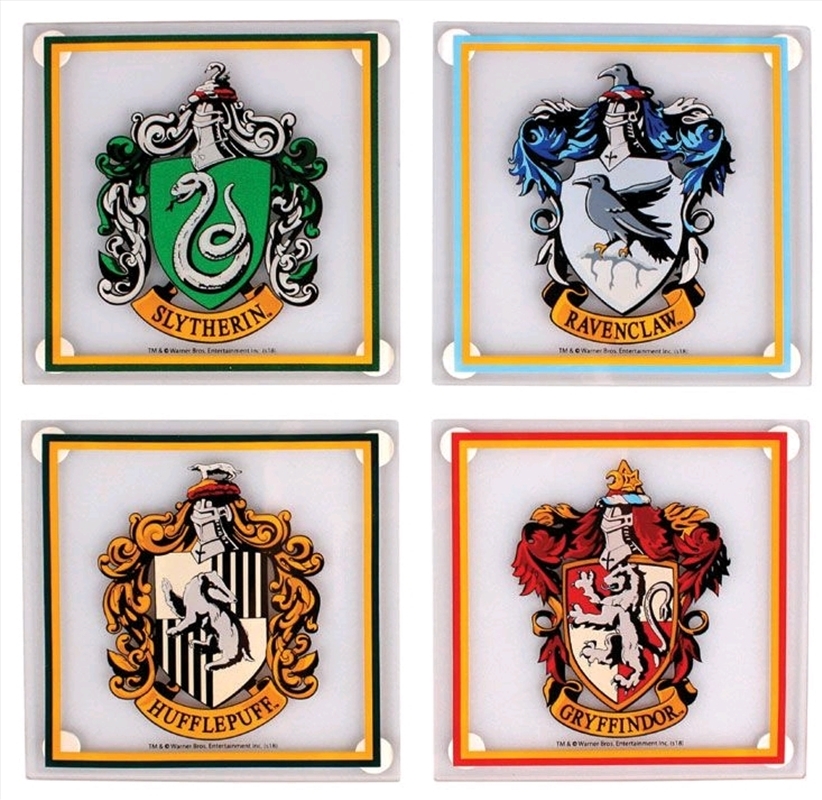 Harry Potter - Houses Glass Coasters Set of 4 | Merchandise