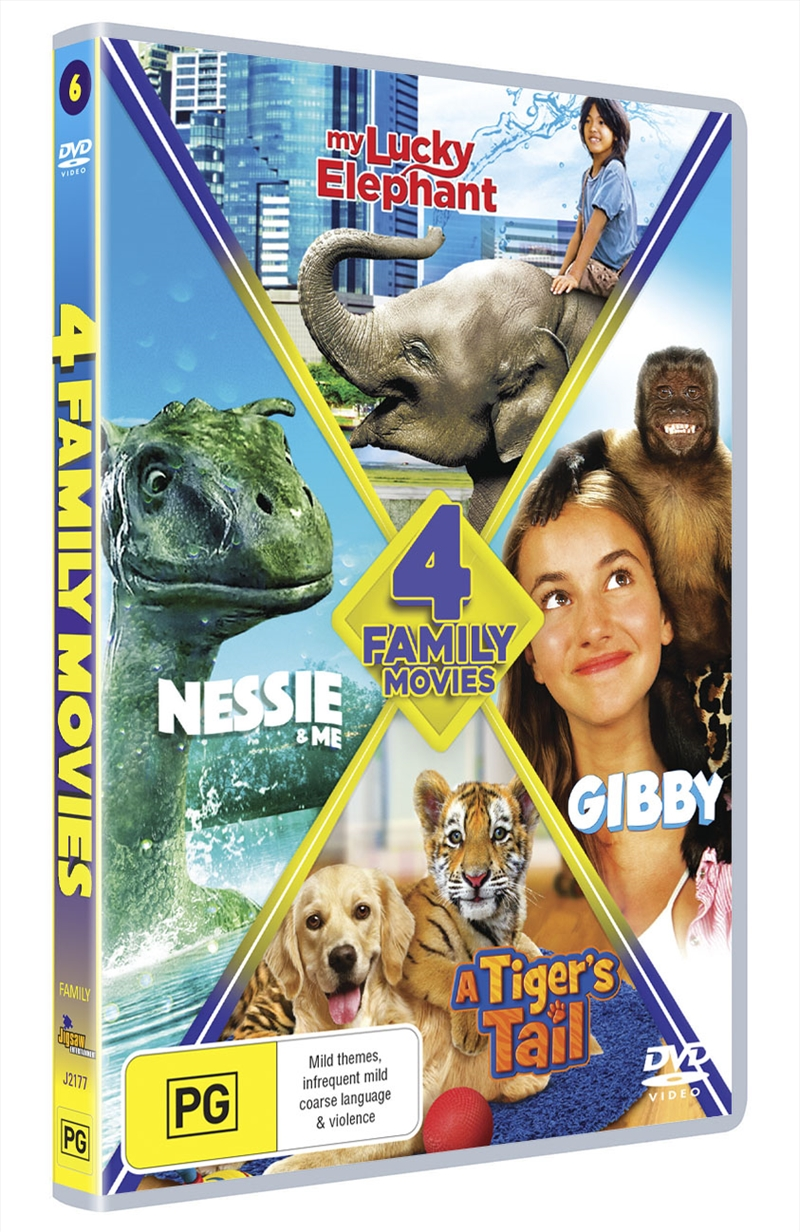 My Lucky Elephant/Nessie & Me/A Tiger's Tale/Gibby   DVD