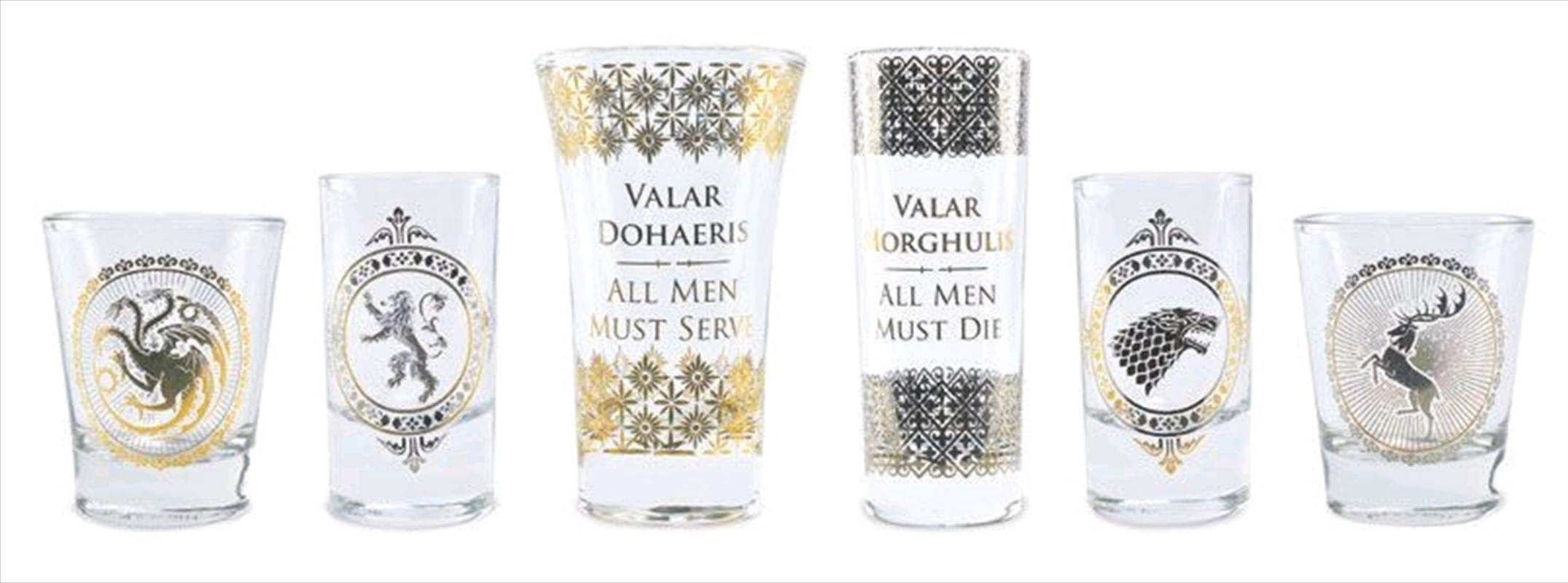 Game of Thrones - Black & Gold Premium Glass Set   Merchandise