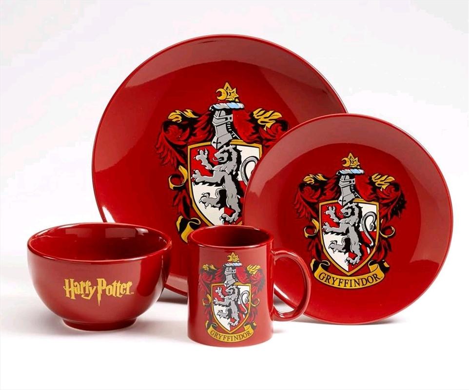 Harry Potter - Gryffindor 4 Piece Ceramic Dinner Set | Homewares