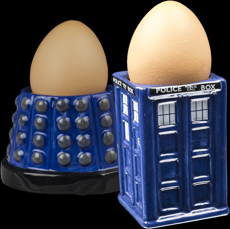 Doctor Who - TARDIS & Dalek Egg Cup Set | Homewares