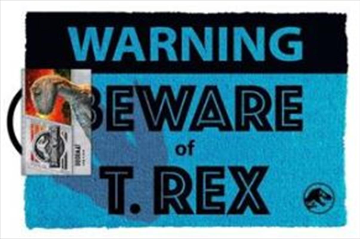 Jurassic World - Beware T.Rex Doormat   Merchandise