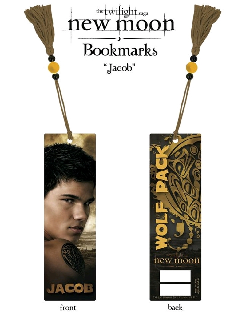 The Twilight Saga: New Moon - Bookmark Jacob (Wolf Pack) | Merchandise