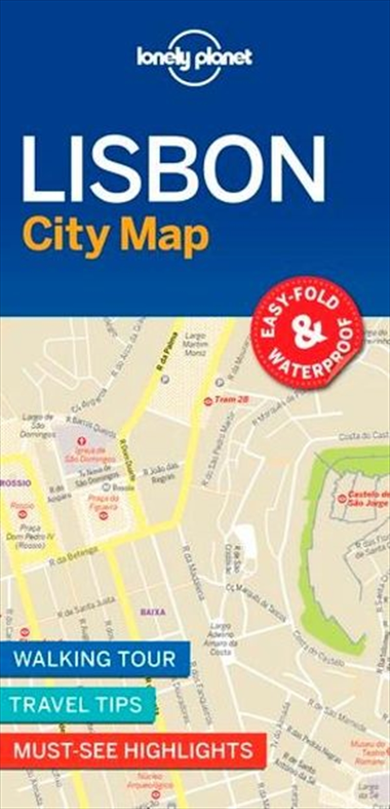 Lonely Planet Travel Guide - Lisbon City Map | Sheet Map