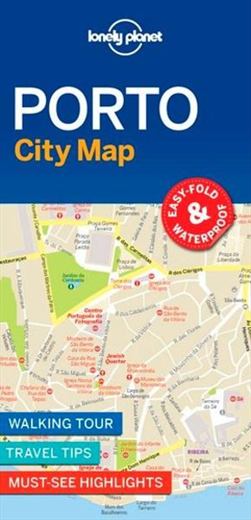 Lonely Planet - Porto City Map | Sheet Map