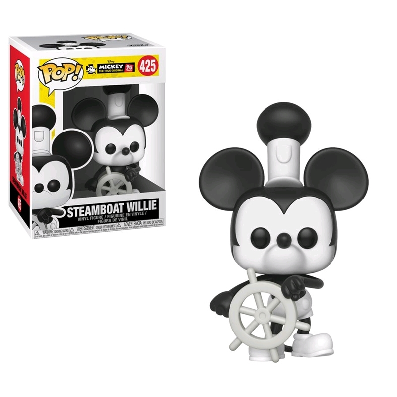 Mickey Mouse - 90th Steamboat Willie Pop! Vinyl | Pop Vinyl