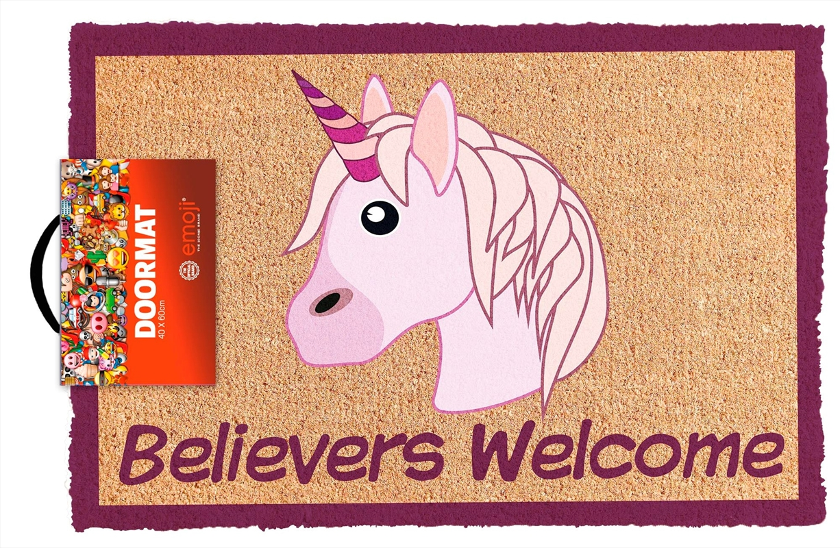 Emoji Believer Welcome Doormat | Merchandise