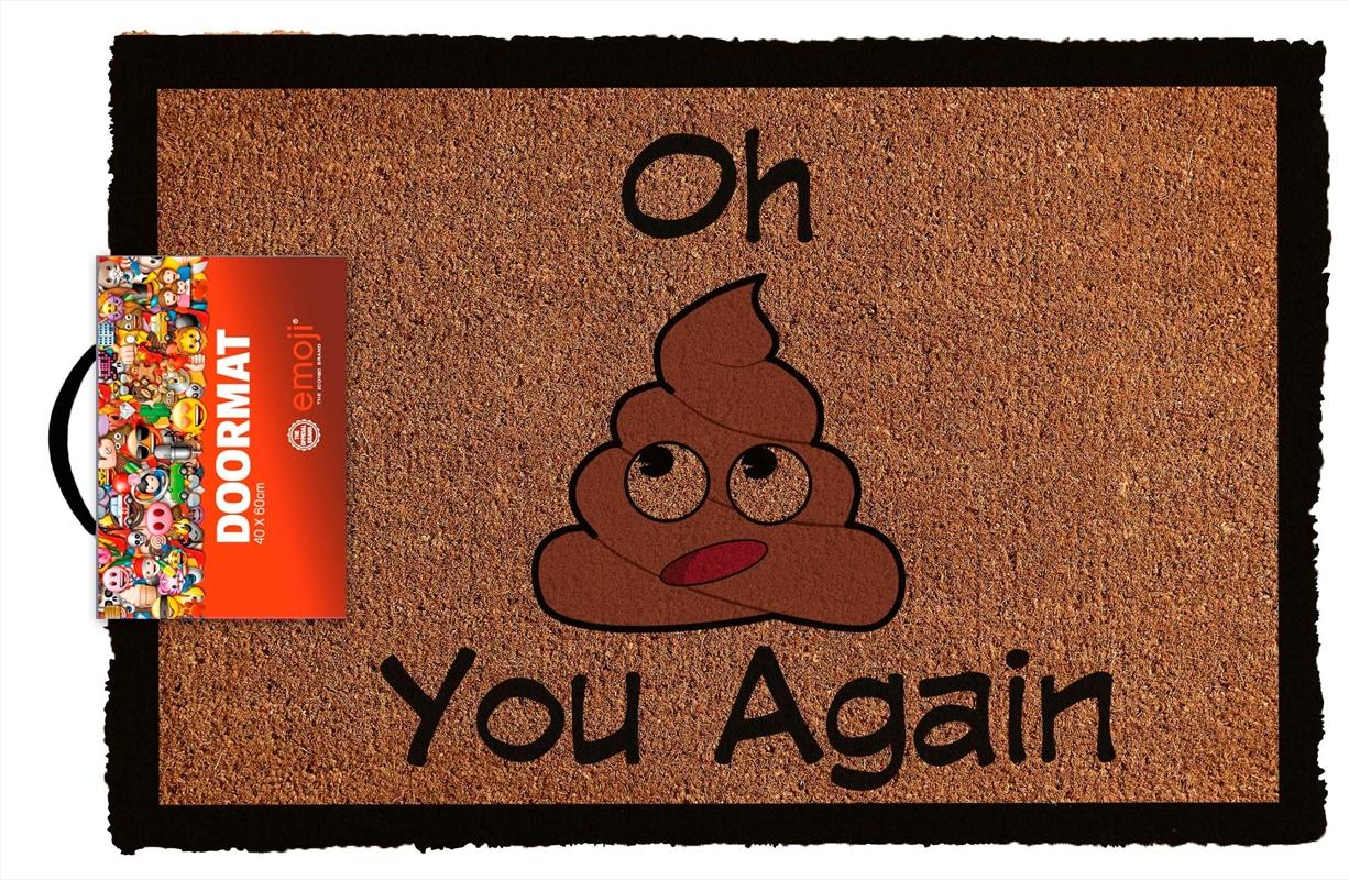 Emoji Oh S*** You Again Doormat | Merchandise