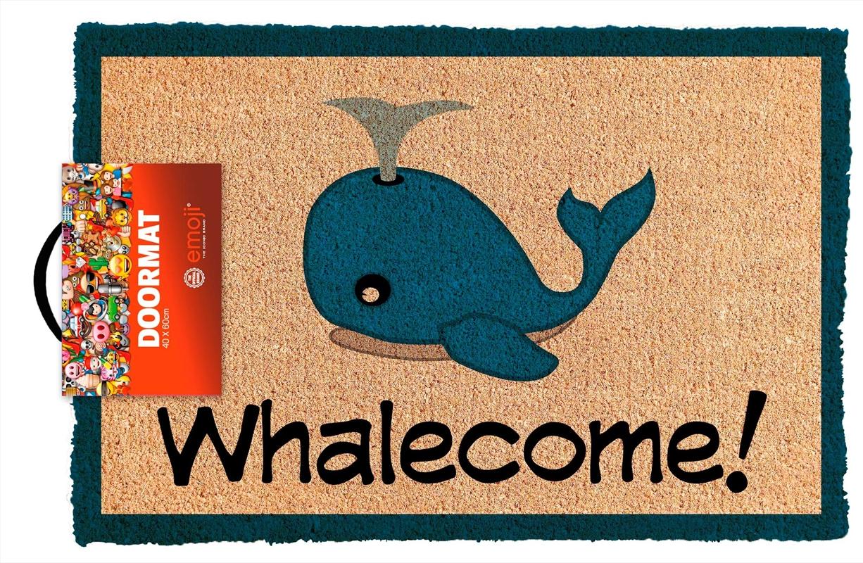Emoji Whalecome Doormat | Merchandise