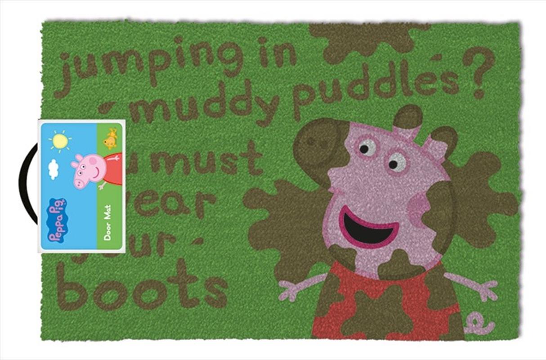 Peppa Pig Muddy Puddle Doormat | Merchandise