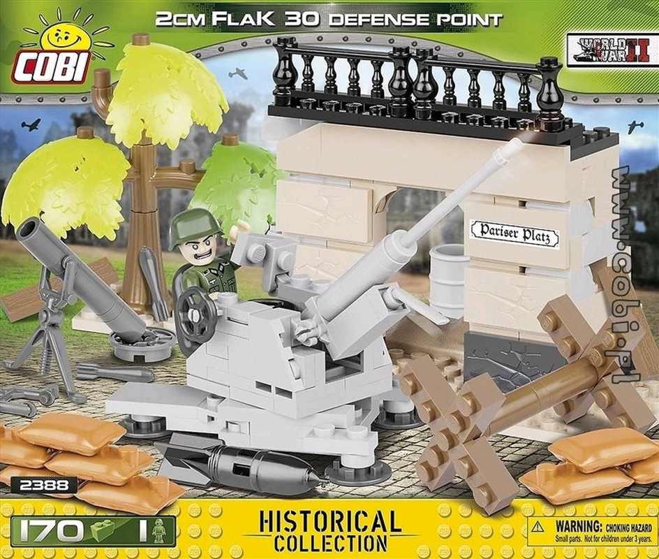 World War II - 170 Piece 2cm Flak 30 Defense Point   Miscellaneous