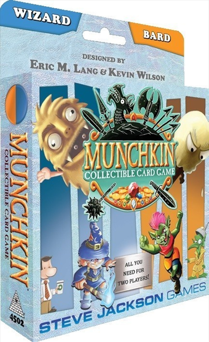 Munchkin Collectable Card Game Wizard and Bard Starter Set | Merchandise