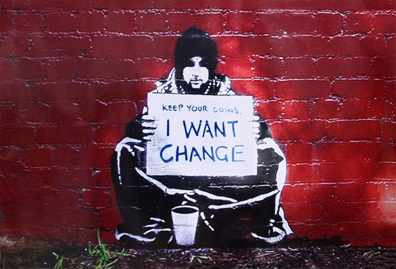 Banksy - I Want Change   Merchandise