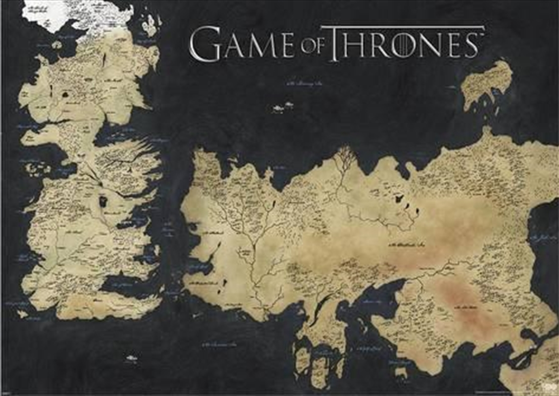 Game Of Thrones - Map Of Westeros | Merchandise
