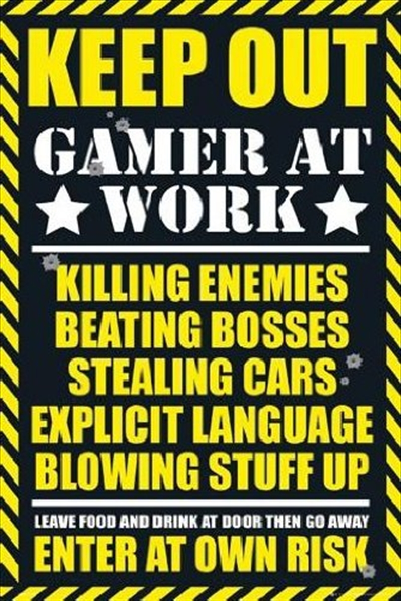 Gaming - Warning Sign   Merchandise