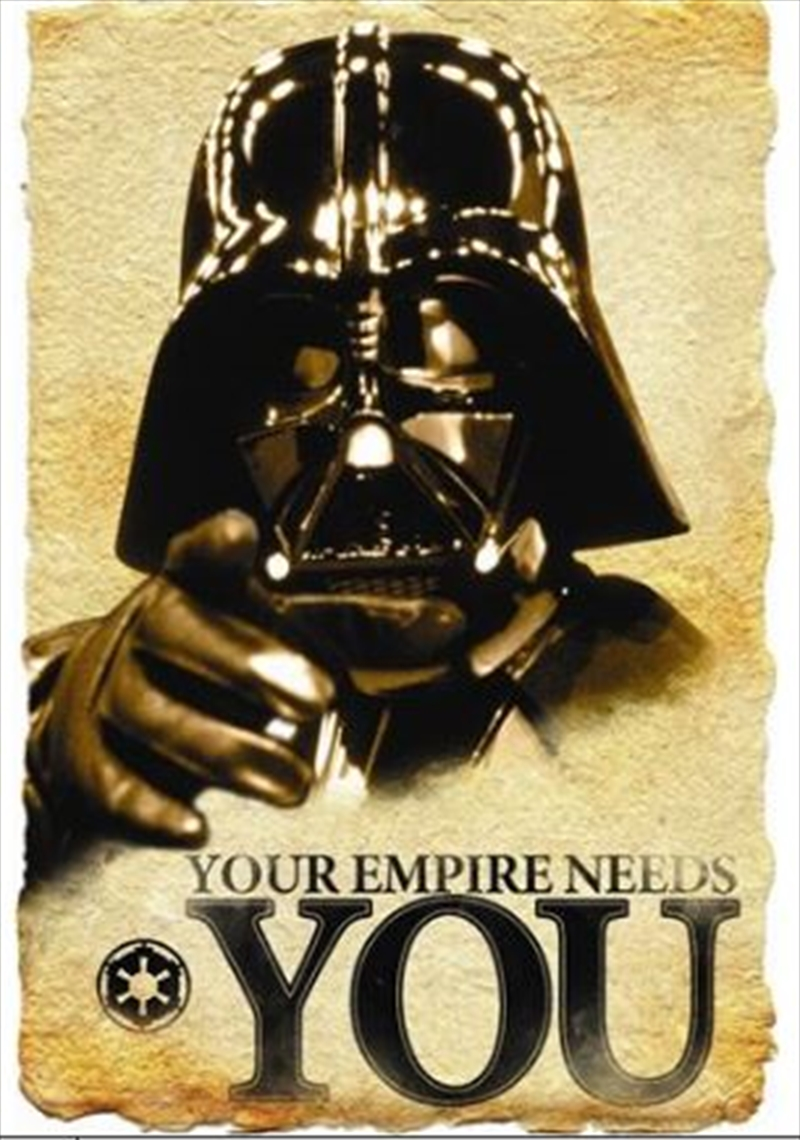 Star Wars - Empire Needs You Double Sided | Merchandise