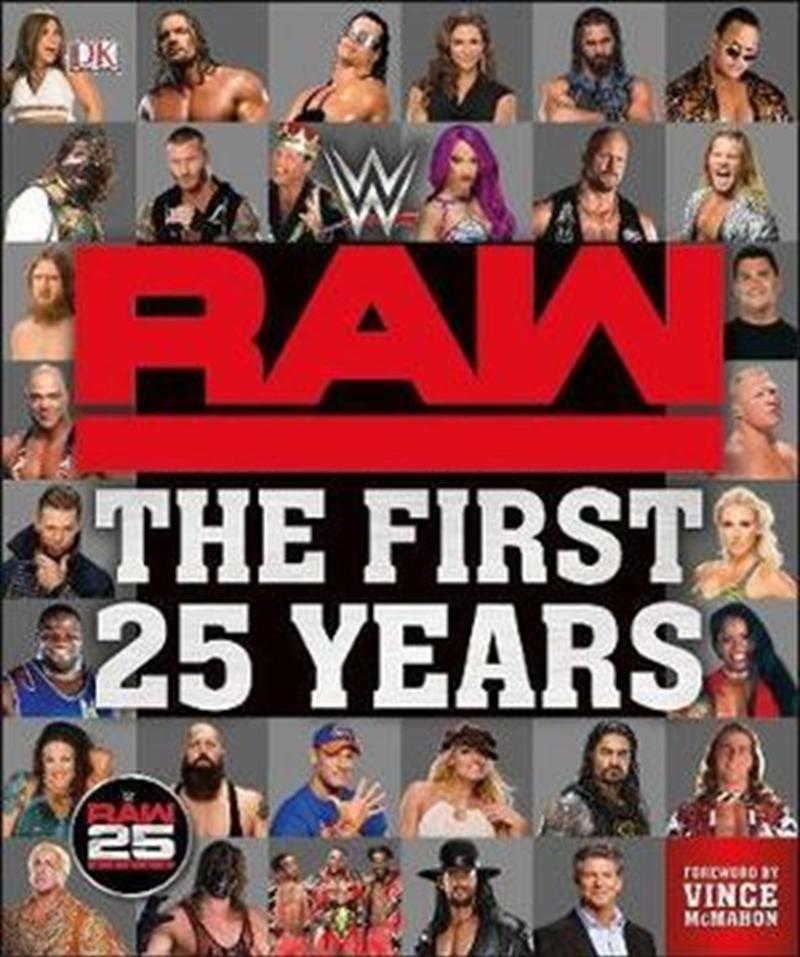 WWE 25 Years Of Monday Night RAW Ultimate Guide | Hardback Book