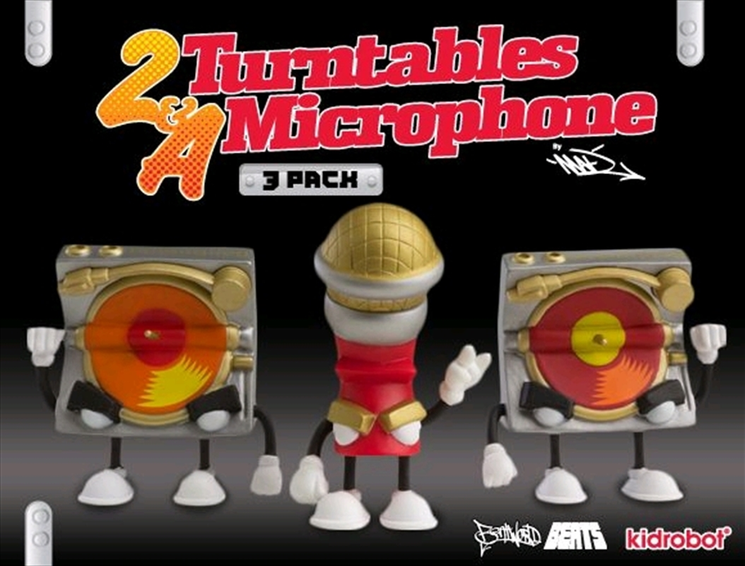 Kidrobot - 2 Turntables and a Microphone Mini 3 Pack | Collectable
