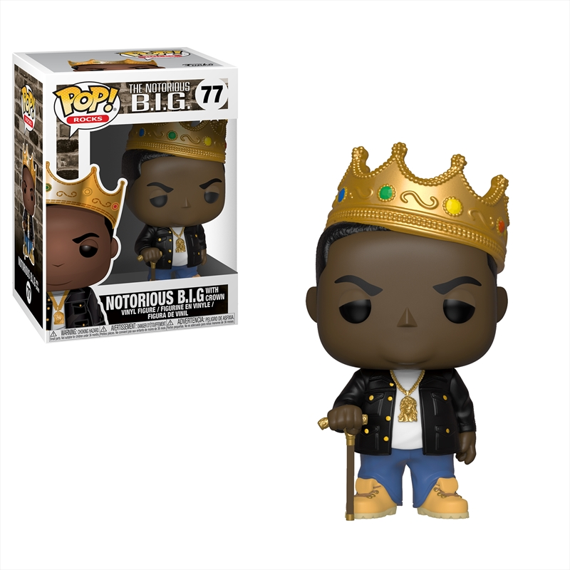 Notorious BIG - Notorious BIG with Crown Pop! Vinyl | Pop Vinyl