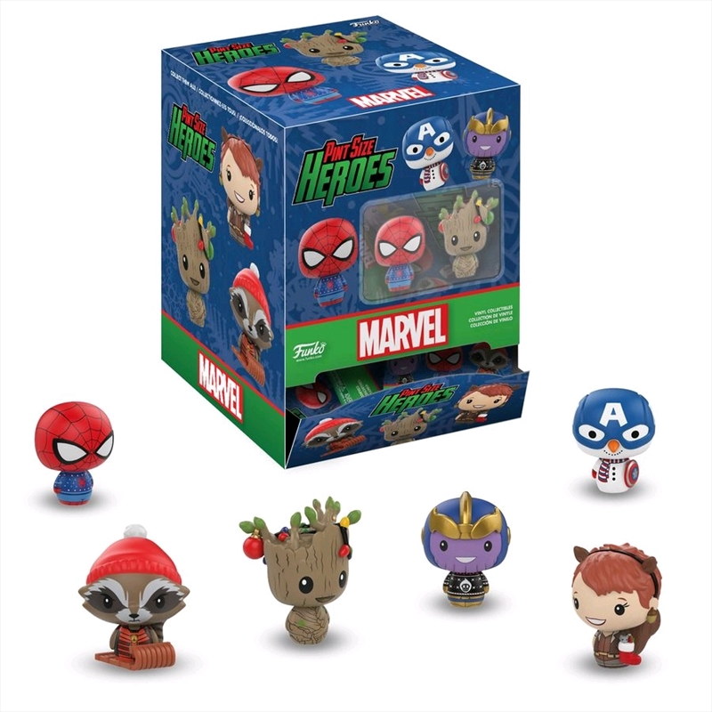Marvel Holiday - Pint Size Heroes Blind Bag Gravity Feed | Toy