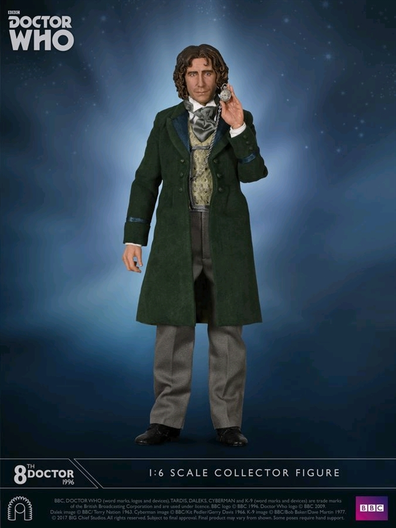 "Doctor Who - Eighth Doctor TV Movie 12"" 1:6 Scale Action Figure 