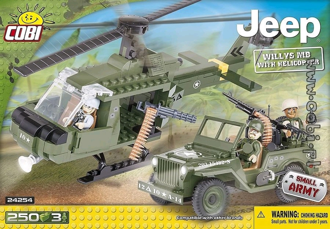Small Army - 250 Piece Jeep Willys MB with Helicopter | Miscellaneous