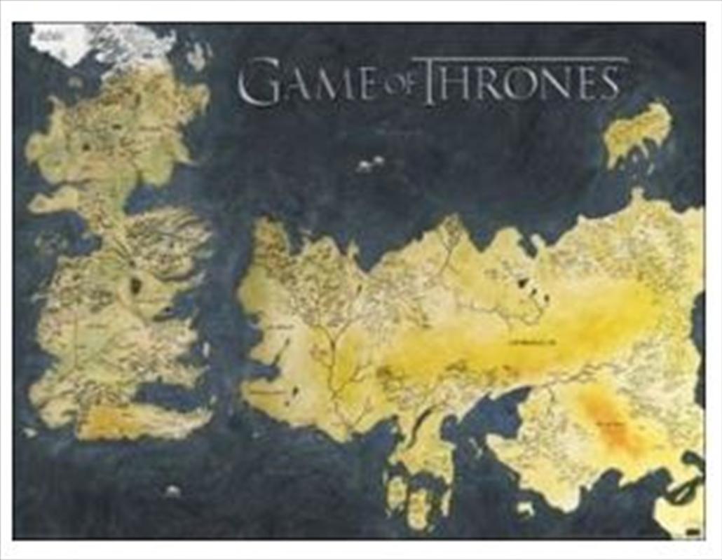 Game Of Thrones - Map Metallic Print | Miscellaneous